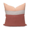 Terra Cotta Pure Linen Cooper 22 pillow - front