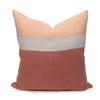 Terra Cotta Pure Linen Cooper 22 pillow - front