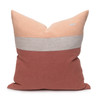 Terra Cotta Pure Linen Cooper 22 pillow - back