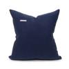 Sophie Kyanite Blue Velvet and Navy Linen Pillow - Back
