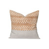 Mesa Clay and Ivory Mud Cloth Pillow - Front