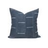 Wesley Mud Cloth Pillow in Tie Dye Gray - Front