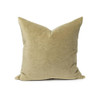 Sophie Olive Jade Green velvet decorative pillow - front