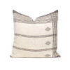 Dune Handspun Indian Wool Ivory and Brown 24 inch Pillow - Front