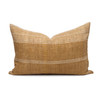 Danni Indian Ivory Wool Gold and Ivory Stripe Lumbar Pillow - Front