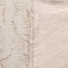 Icon Lap Blanket  - Ivory Linen and Vegan Faux Fur Blanket Made in the USA - Fabric Detail
