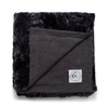 Icon Blanket  - Carbon Linen and Caviar Vegan Faux Fur Blanket Made in the USA