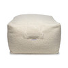 Millie Square Vegan Faux Sherpa Pouf - Top