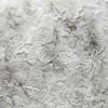 Charlotte Gray Vegan Faux Fur Pillow Cozy Granite - Fabric Detail