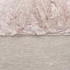 Faux Blush Vegan Faux Fur Lumbar Pillow  - Fabric Detail
