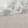 Fable Gray Vegan Faux Fur Lumbar Pillow  - Fabric Detail