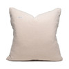 Minky Linen Washable Pillow - Back