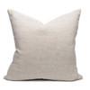 Cloud Vegan Faux Sherpa Fur Washable Linen Pillow - Back