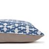 Talmage Indigo Linen Pillow - Side