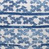 Talmage Indigo Linen Pillow - Fabric Detail