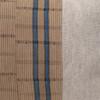 Harbor Lumbar Blue Aso Oke Indigo Linen Pillow - 1420 - Fabric Detail