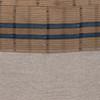 Harbor Lumbar Blue Aso Oke Indigo Linen Pillow - 22 - Fabric Detail