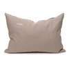 Bondi Hemp Indigo Lumbar Pillow - 17x26 - Back
