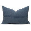 Bondi Hemp Indigo Lumbar Pillow - 17x26 Front