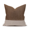 Evan Taupe Luxe Hmong Vintage Pillow - 20 - Front