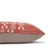 Coral Seas Aso Oke Luxe Vintage Lumbar Pillow - 16 x 22 - Side