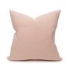 Sophie Rose Quartz Nude Linen Velvet Decorative Pillow - Back