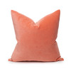 Sophie Coral Velvet Decorative Pillow - Front
