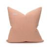Sophie Coral Velvet Decorative Pillow - Back