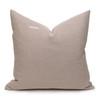 Celine Rose Quartz Linen Velvet Pillow - Back