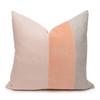 Celine Rose Quartz Linen Velvet Pillow - Front