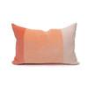 Celine Rose Quartz Linen Velvet Lumbar Pillow - Front