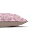 Jaipur Dreams India Pink Linen Print 22x22 Pillow - side
