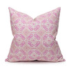 Jaipur Dreams India Pink Linen Print 22x22 Pillow - front