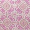 Jaipur Dreams India Pink Linen Print 22x22 Pillow - fabric detail