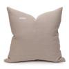 Hampton Nude, White Mud Cloth, Natural Linen Pillow - 22 - Back