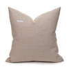 Christy Natural Linen Aso Oke Luxe Vintage Pillow - 22 - Back