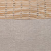 Christy Natural Linen Aso Oke Luxe Vintage Pillow - 22 - Detail