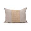 Christy Natural Linen Aso Oke Luxe Vintage Lumbar Pillow - 14 x 20- Front