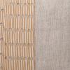 Christy Natural Linen Aso Oke Luxe Vintage Lumbar Pillow - 14 x 20- Detail