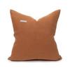 Sophie Golden Topaz Cotton Velvet Decorative Pillow - Back