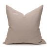 Hampton Dijon Mustard, White Mud Cloth, Natural Linen Pillow - 22 -Back