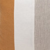 Hampton Dijon Mustard, White Mud Cloth, Natural Linen Pillow - 22 - Detail