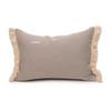 Dixie Lumbar Yellow Mud Cloth Pillow - 1622 - Back