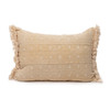 Dixie Lumbar Yellow Mud Cloth Pillow - 1622 - Front
