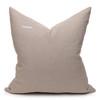 Regis Linen Aso Oke Luxe Vintage Pillow - 24 x 24 - Back