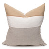 Regis Linen Aso Oke Luxe Vintage Pillow - 24 x 24 - Front