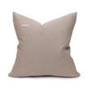Saint Aqua Velvet Pillow - Back