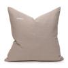 Celine Aqua and Mist Linen Velvet Pillow - Back