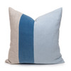 Celine Kyanite Linen Velvet Pillow - Front