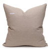 James Handspun Indian Wool Ivory and Brown 24 inch Pillow - Back